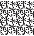 Seamless black and white branches and leaves vector image