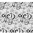 seamless calligraphic pattern with lettering lets vector image vector image
