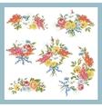 Set of Baroque Bouquet Wildflowers vector image vector image