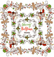 Set of Christmas calligraphic frames vector image