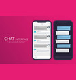 set of mobile ui design concept trendy chat vector image