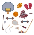 set of sport objects vector image