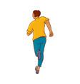 sketch running man ranaway character vector image vector image