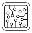 smart processor icon outline style vector image vector image