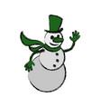 snowman cartoon christmas vector image vector image
