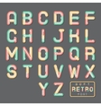Soft Line Abstract Retro Vintage Hopster Alphabet vector image vector image