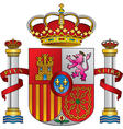 spain royal emblem vector image vector image