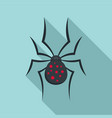 spider icon flat style vector image