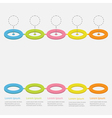 Timeline Infographic Colorful circles Dash vector image vector image