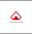 triangle design business company logo vector image