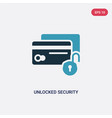 two color unlocked security cit transaction vector image vector image
