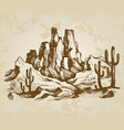 typical landscape of arizona vector image vector image