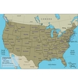 USA map with federal states All states are vector image vector image