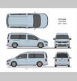 vw caddy life maxi passenger van 2015-present vector image vector image