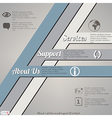 Web layout template vector image
