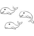 Whale set vector image
