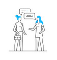 woman communicates with her friend relationships vector image vector image