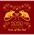 year rat 2020 chinese zodiac happy new vector image vector image