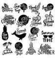 summer emblems set of hand drawn lettering vector image