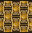 3d gold textured greek seamless pattern vector image vector image