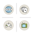 Addictions icons vector image
