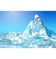 Alps Matterhorn mountain vector image