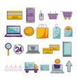 bundle ecommerce set icons vector image vector image