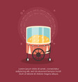 carnival circus food booth pop corn retro vector image