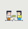 character in the currency exchange vector image