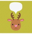 Christmas deer with speech bubble vector image vector image