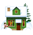 Christmas house vector | Price: 3 Credits (USD $3)