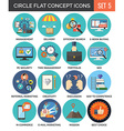 Circle Colorful Concept Icons Flat Design Set 5 vector image