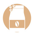 coffee toast bag icon vector image vector image