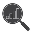 data analysis black silhouette vector image vector image