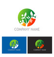 ecology green leaf bio logo vector image