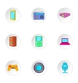 Electronic equipment icons set cartoon style vector image vector image