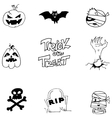 Element doodle Halloween black white vector image vector image