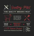 fine quality goatling fillets restaurant signs vector image