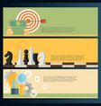 flat backgrounds set target coins and chess vector image vector image