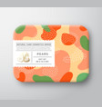 fruits bath cosmetics box wrapped paper vector image vector image