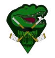 Fully editable professional hockey logo vector image vector image
