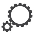 gear transmission flat icon symbol vector image