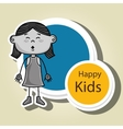 girl kids happy icon vector image vector image