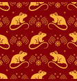 golden rat seamless pattern elegant golden rats vector image