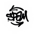 graffiti tag spam sprayed with leak in black vector image vector image