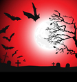 Halloween background - destroyed cemetery vector image vector image