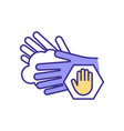 hands protection rgb color icon vector image
