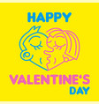 happy valentines day logo vector image vector image