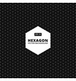 hexagon seamless pattern modern stylish texture vector image