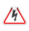 high voltage sticker vector image vector image